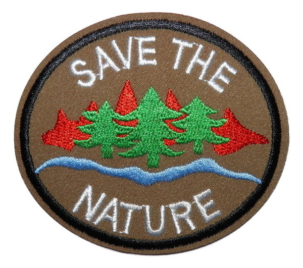 Écusson brodé thermocollant Save The Nature